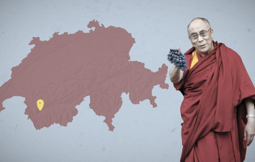 Warum der Dalai Lama einen Weinberg im Wallis besitzt